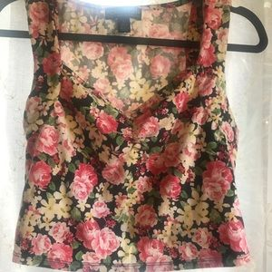 Forever 21 Tops - Plus Size Floral Crop Top
